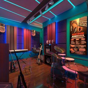 peredam suara studio musik