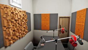 peredam suara ruang studio podcast