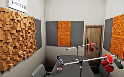 Peredam Suara Untuk Studio Podcast Dengan Akustik Ruangan Berkualitas Bagus